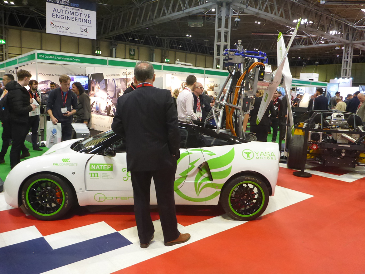 CRPS electric test vehicle Highlight Exhibit at the Advanced Engineering show
